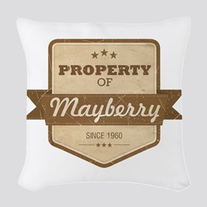 Property of Mayberry Woven Throw Pillow