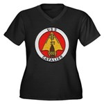 USS CAVALIER Women's Plus Size V-Neck Dark T-Shirt