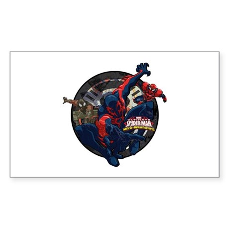 Web warriors spider man 2099 sticker rectangle