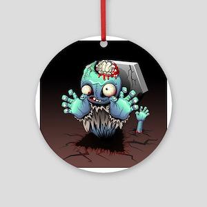Zombie Monster Cartoon Ornament (Round)