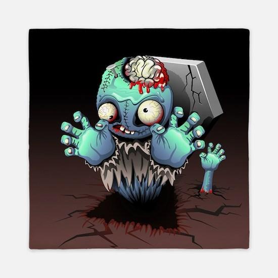 Zombie Monster Cartoon Queen Duvet