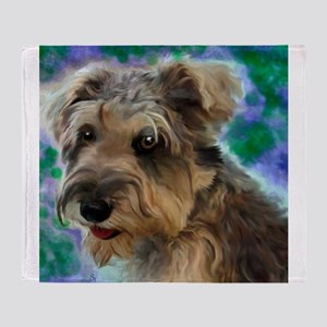 Scruffy Miniature Schnauzer Throw Blanket
