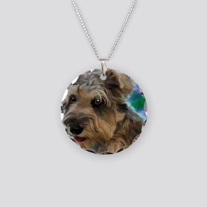 Scruffy Miniature Schnauzer Necklace Circle Charm