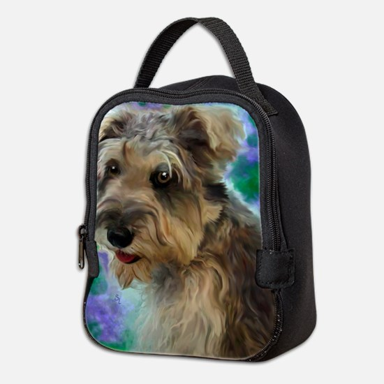 Scruffy Miniature Schnauzer Neoprene Lunch Bag
