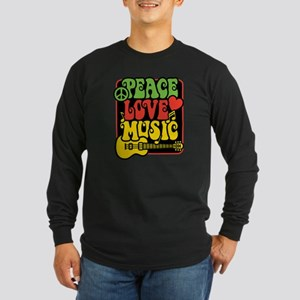 Rasta Peace Love Music Long Sleeve T-Shirt