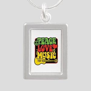 Rasta Peace Love Music Necklaces