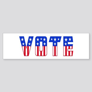 Red White and Blue Stars and Stripes VOTE Bumper S
