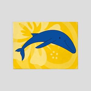 Whale 5'x7'Area Rug