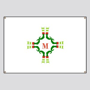Personalizable Christmas Elf Feet Initial Banner