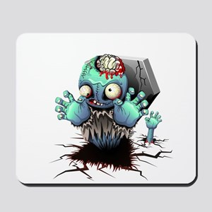 Zombie Monster Cartoon Mousepad