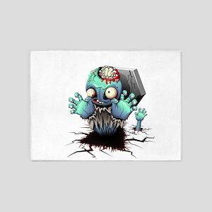 Zombie Monster Cartoon 5'x7'Area Rug