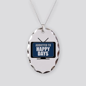 Addicted to Happy Days Necklace Oval Charm