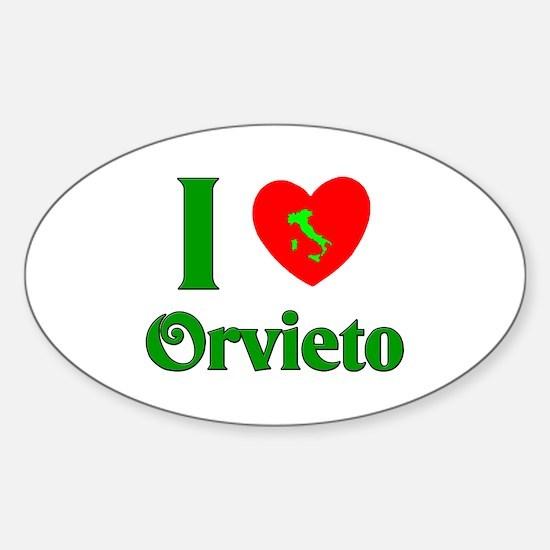 I Love Orvieto Oval Decal