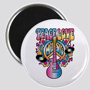 Peace Love & Music Magnets