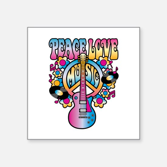 Peace Love & Music Sticker