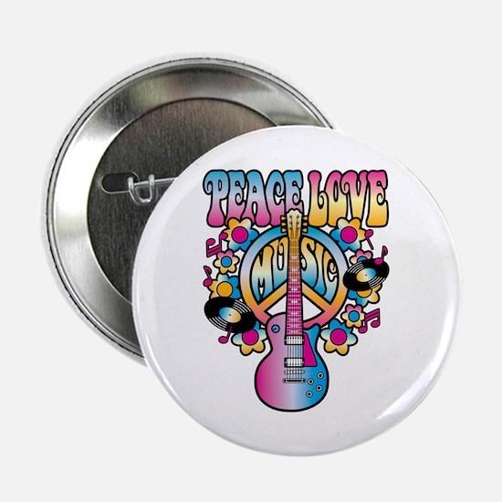 """Cute Peace love music 2.25"""" Button"""