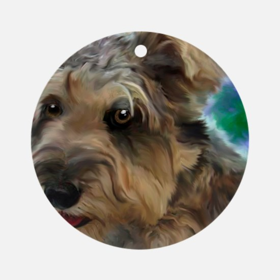 Scruffy Miniature Schnauzer Round Ornament