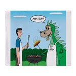Dragon Grilling Throw Blanket