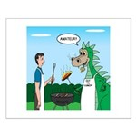Dragon Grilling Small Poster