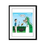 Dragon Grilling Framed Panel Print