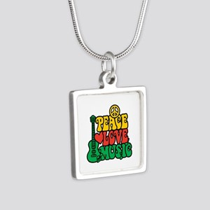 Reggae Peace Love Music Necklaces