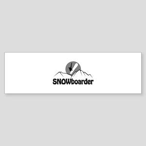 Snowboarder Snowboarding Graphic Bumper Sticker