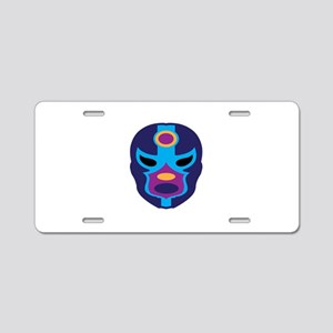 Lucha Libre Mask Aluminum License Plate