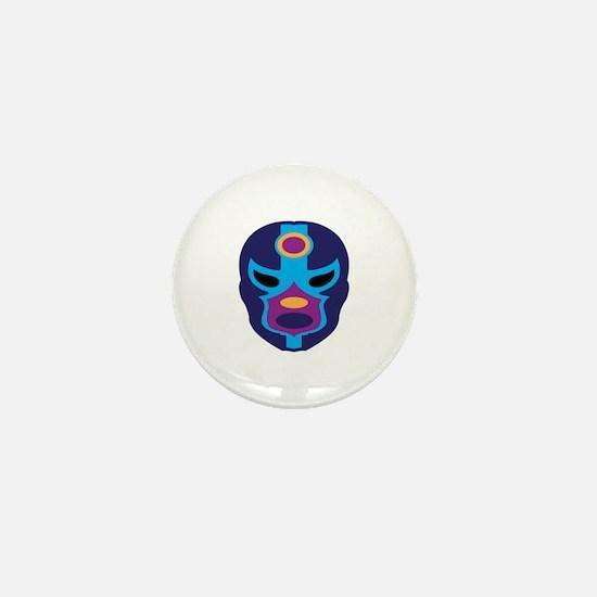 Lucha Libre Mask Mini Button