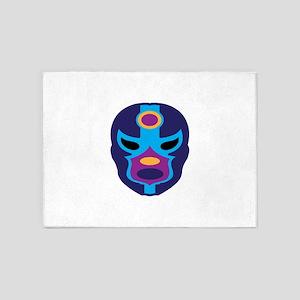 Lucha Libre Mask 5'x7'Area Rug