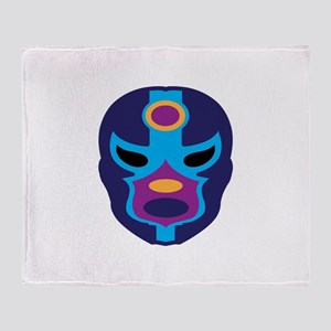 Lucha Libre Mask Throw Blanket