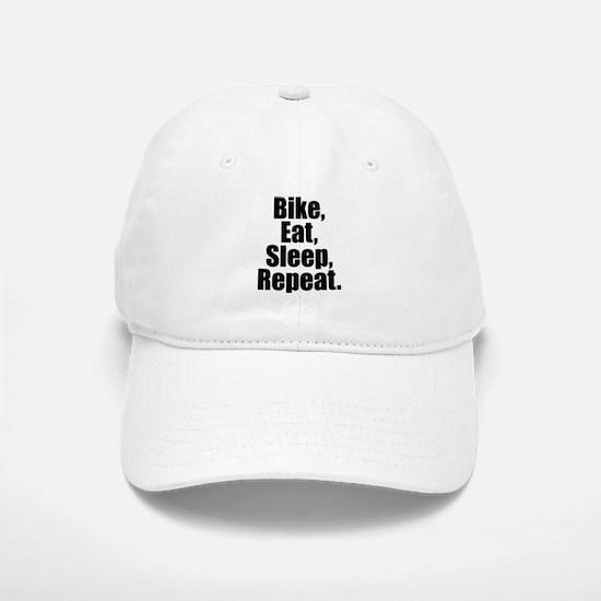 Bike Eat Sleep Repeat Baseball Baseball Baseball Cap