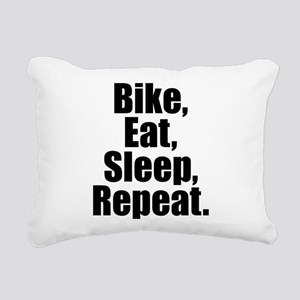 Bike Eat Sleep Repeat Rectangular Canvas Pillow