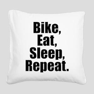 Bike Eat Sleep Repeat Square Canvas Pillow