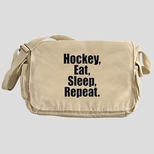 Hockey Eat Sleep Repeat Messenger Bag