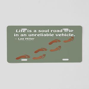 Soul Road Trip Aluminum License Plate