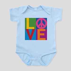 Color Block LOVE=Peace Body Suit