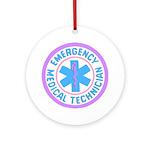 EMT Logo Pastel Ornament (Round)