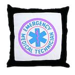 EMT Logo Pastel Throw Pillow