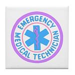 EMT Logo Pastel Tile Coaster