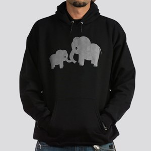 Cute Elephants Mom and Baby Hoodie