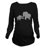 Elephant Dark Long Sleeve Maternity T-Shirt