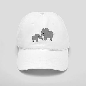 Cute Elephants Mom and Baby Baseball Cap