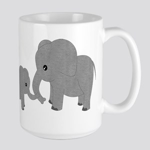 Cute Elephants Mom and Baby Mugs