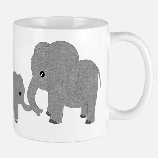 Cute Elephants Mom and Baby Mugs