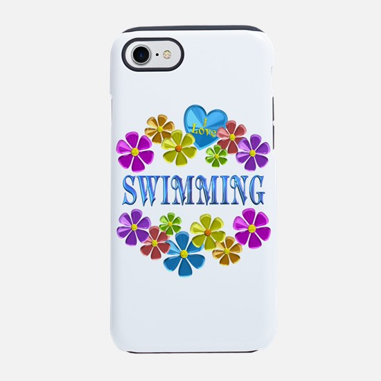 I Love Swimming iPhone 7 Tough Case