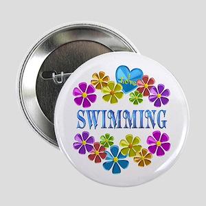 """I Love Swimming 2.25"""" Button"""