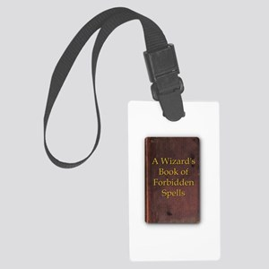 Wizard's Bk of Forbidden Spells Large Luggage Tag