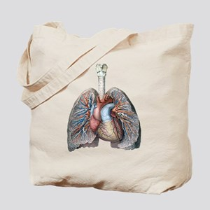 Human Anatomy Heart and Lungs Tote Bag