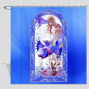 Ondine Sensual Siren Mermaid Shower Curtain
