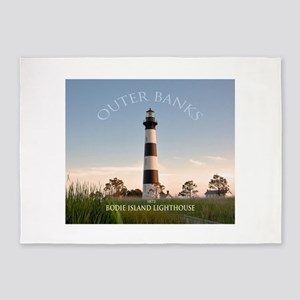 Bodie Island Lighthouse. 5'x7'area Rug